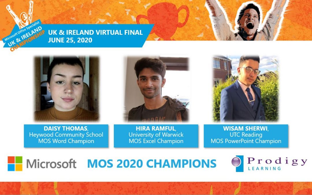 Microsoft Crowns the 2020 Microsoft MOS UK and Ireland Champions