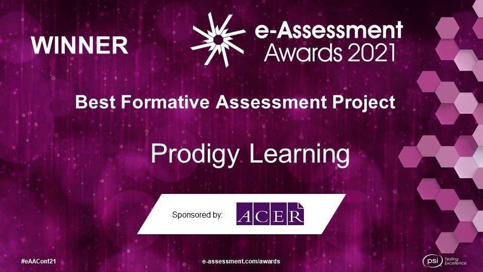 eAssessment Association Awards 2021 Winner